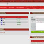 Sur cette capture d'écran, nous pouvons voir les différents chefs de section en place ainsi que le menu pour demander une vacance de poste. Ainsi que le menu pour traiter les promotions.